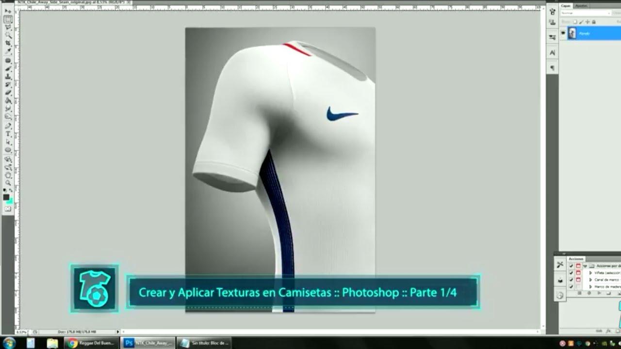 nueva colección despeje bonito diseño Tutorial sobre TEXTURAS - Crear Textura - Diseño de Camisetas de Fútbol -  Parte 2/6 - Photoshop
