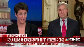 Senator Whitehouse Joins Rachel Maddow on MSNBC