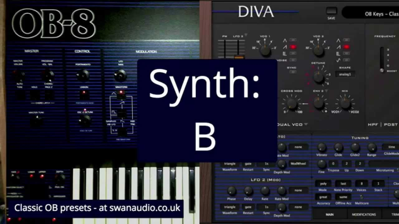 Oberheim ob8 vs u he diva blind test youtube - U he diva ...