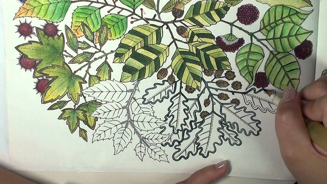 Colorvlog: Secret Garden Speed Coloring Page 7 Part 3 (Final) - YouTube
