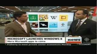 October 26, 2012 CBC News Now with Ian Hanomansing - Windows 8 Launch