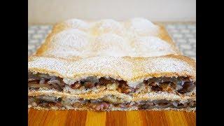 ПИРОГ из ТВОРОЖНОГО теста с ЯБЛОКАМИ ОРЕХАМИ и КОРИЦЕЙ пирог рецепт Пирог с яблоками