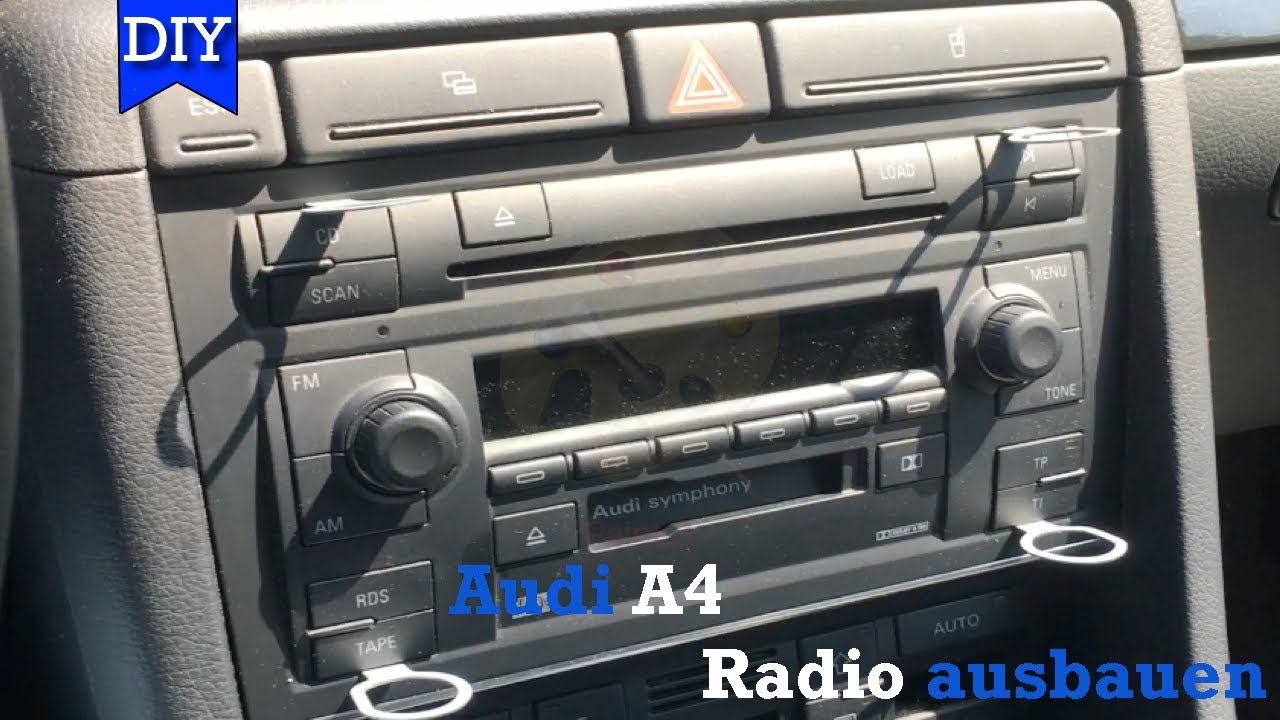 audi a4 b6 radio ausbauen teil1 umbau auf rns e youtube. Black Bedroom Furniture Sets. Home Design Ideas