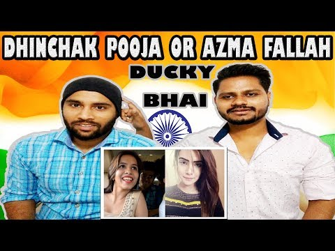 Indian Reaction On Ducky Bhai | DHINCHAK POOJA (SELFIE) OR AZMA FALLAH (CRINGE) | Krishna Views