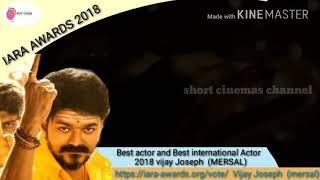 Actor Vijay international award/IARA international award 2018