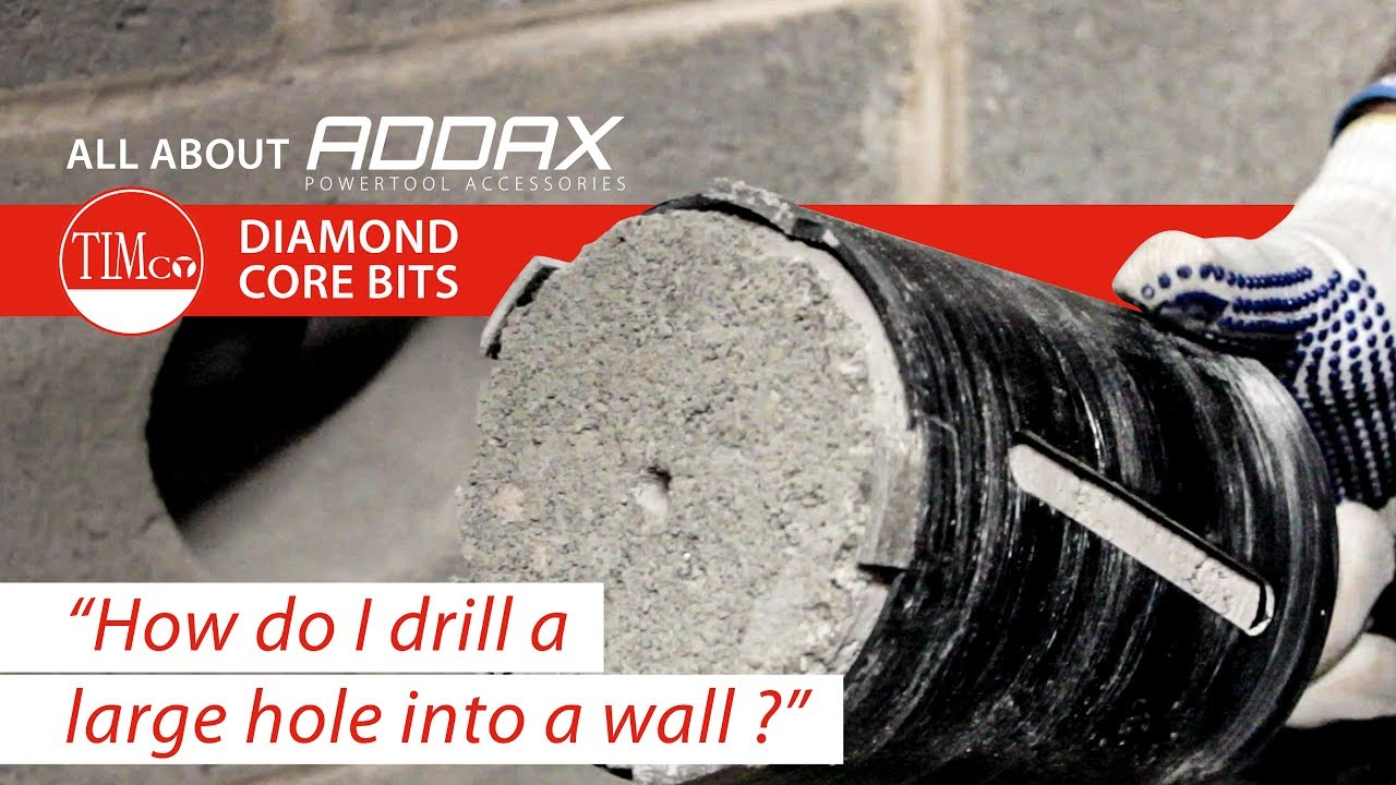 How to drill a hole through outside wall
