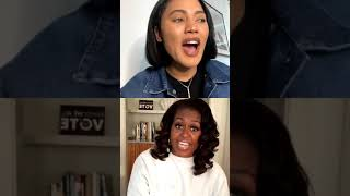 Ayesha Curry IG Live with Michelle Obama