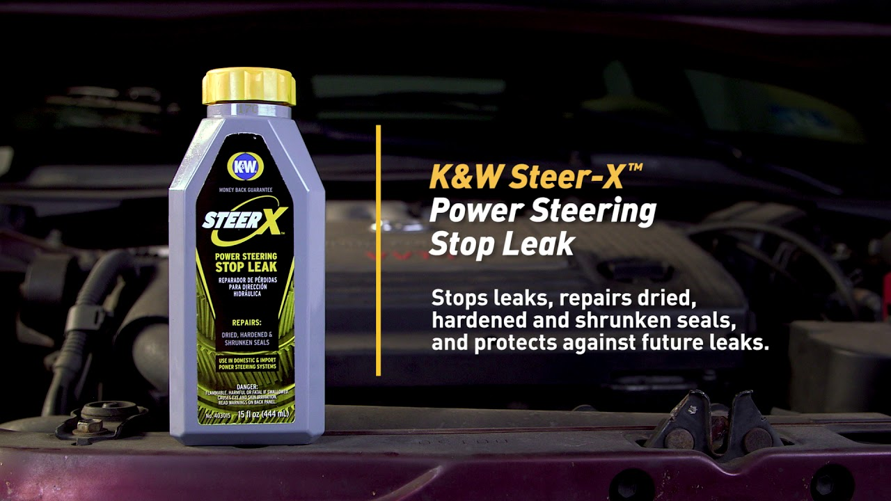 hight resolution of how to fix a power steering leak with k w steer x power steering stop leak