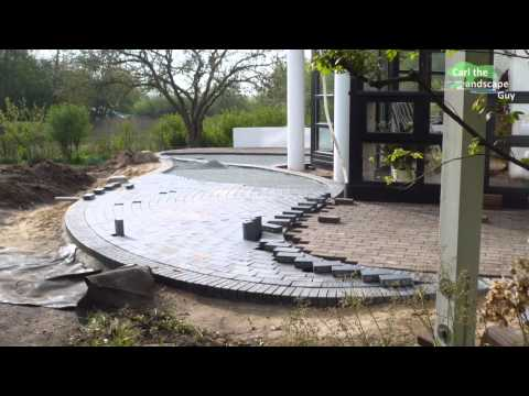 HOW TO BUILD ROUND PAVER BRICK PATIO | LAY TWO COLOR CLINKER STONES | INDIVIDUAL GREAT TERRACE