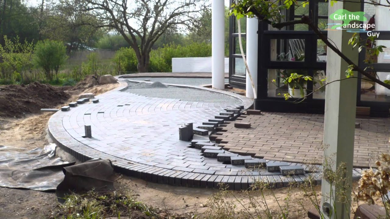 how to build round paver brick patio lay two color clinker