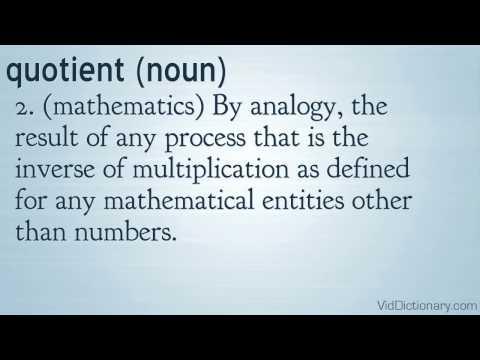 quotient - definition