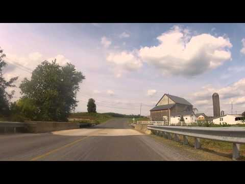SPIN CLASS: Lancaster County, PA.   AMISH COUNTRYSIDE via GoPro Bicycle Cam