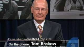 "Former ""nbc nightly news"" anchor tom brokaw, along with that program's current brian williams, and ""world news tonight"" charlie gibson discuss ..."