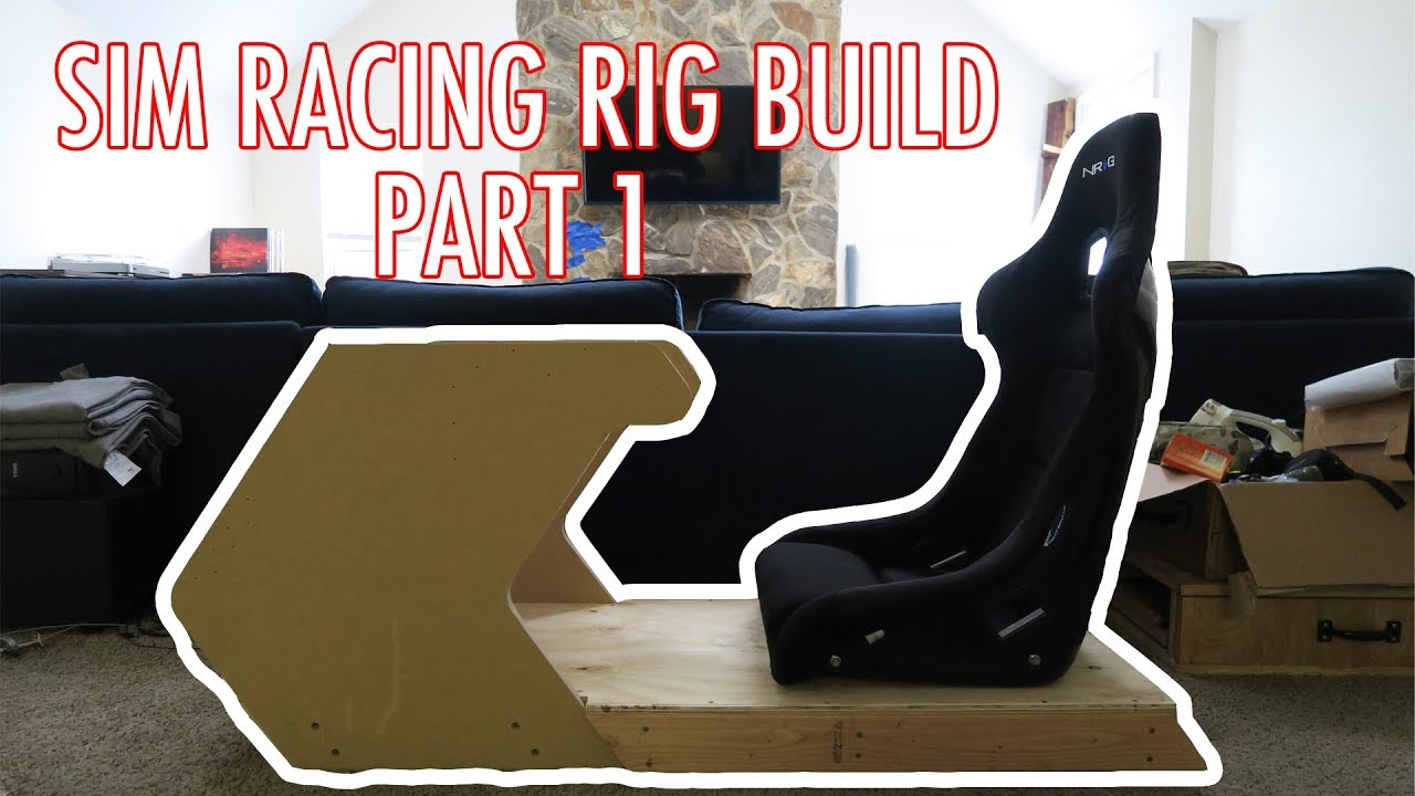 racing simulator chair plans does kmart have bean bag chairs sim rig build part 1 ricmotech rs1 base ae21 youtube