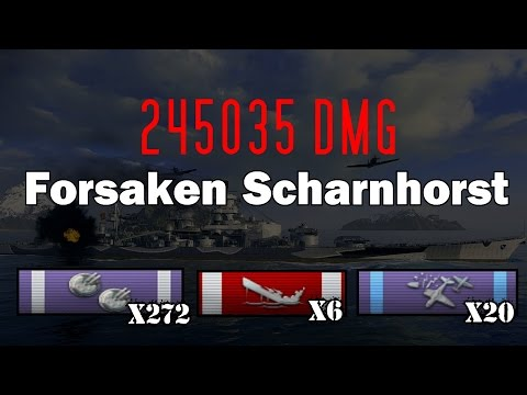 German Steel at its best! Forsaken Scharnhorst, 245K DMG || World of Warships