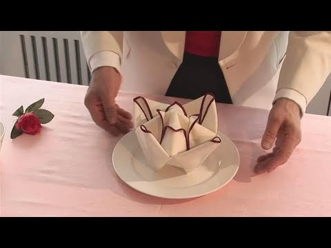 ballerina napkin folding instructions