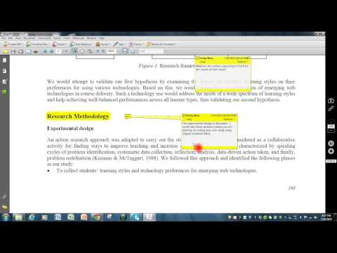 Dissecting a Peer Reviewed Scholarly Journal Article