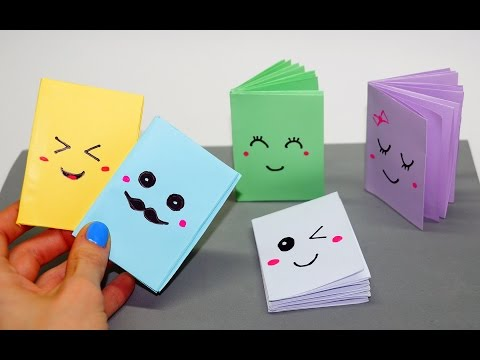 DIY Kawaii notebook of 1 sheet of paper / Mini notebook OF OWN HANDS / Ideas for school / Julia DIY
