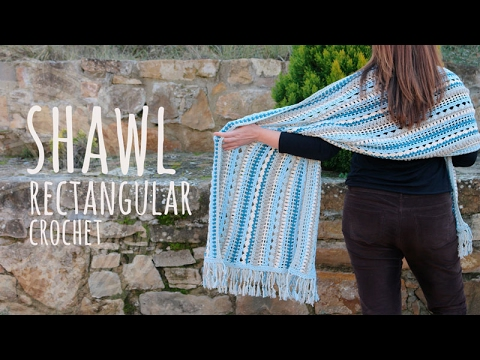 Tutorial Easy Crochet Shawl Youtube