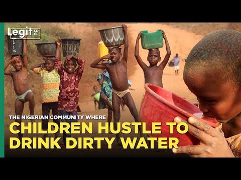 Nigerian community where children hustle to drink dirty water | Legit TV