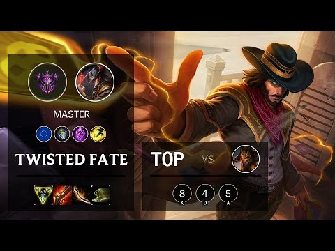 Twisted Fate Top Vs Jarvan IV - EUW Master Patch 10.10
