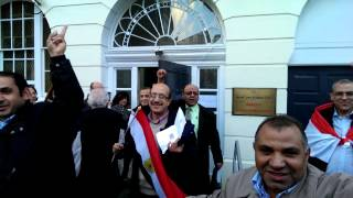 Two sides of Egypt faced each other outside Egypt embassy London part 1