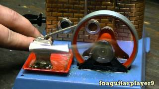 Starting and Running a Wilesco D6 Model Steam Engine (how to start)