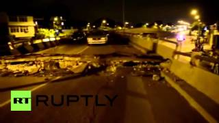 Ecuador: People trapped after bridge collapses following huge quake