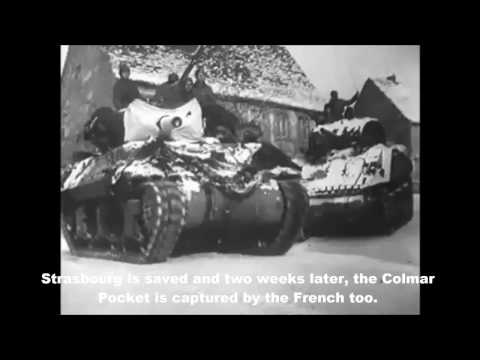 1945 French Army Defend Strasbourg Against German Offensive