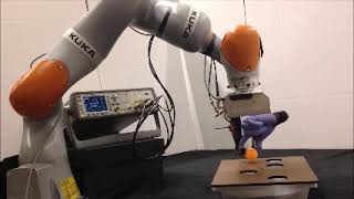 Robot hand moves a ping pong ball