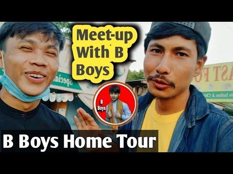 Finally i meet B Boys    B Boys Home ???? Tour    Village Vlog