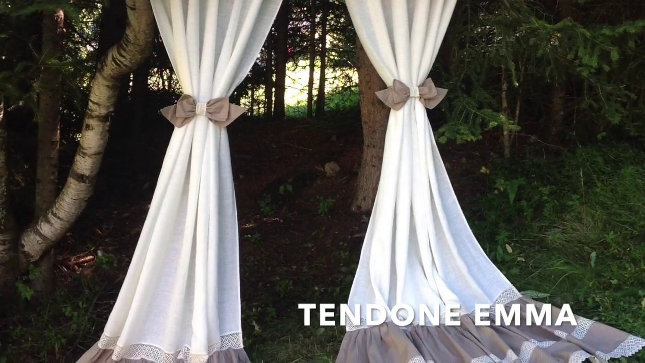 Tende Fai Da Te Shabby : Simaw tende shabby country chic made in italy youtube