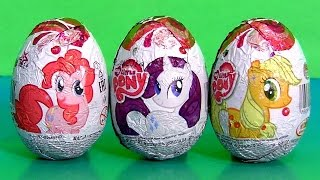 My Little Pony Huevos Sorpresa MLP Chocolate Surprise Eggs Same As Kinder Unboxing Review