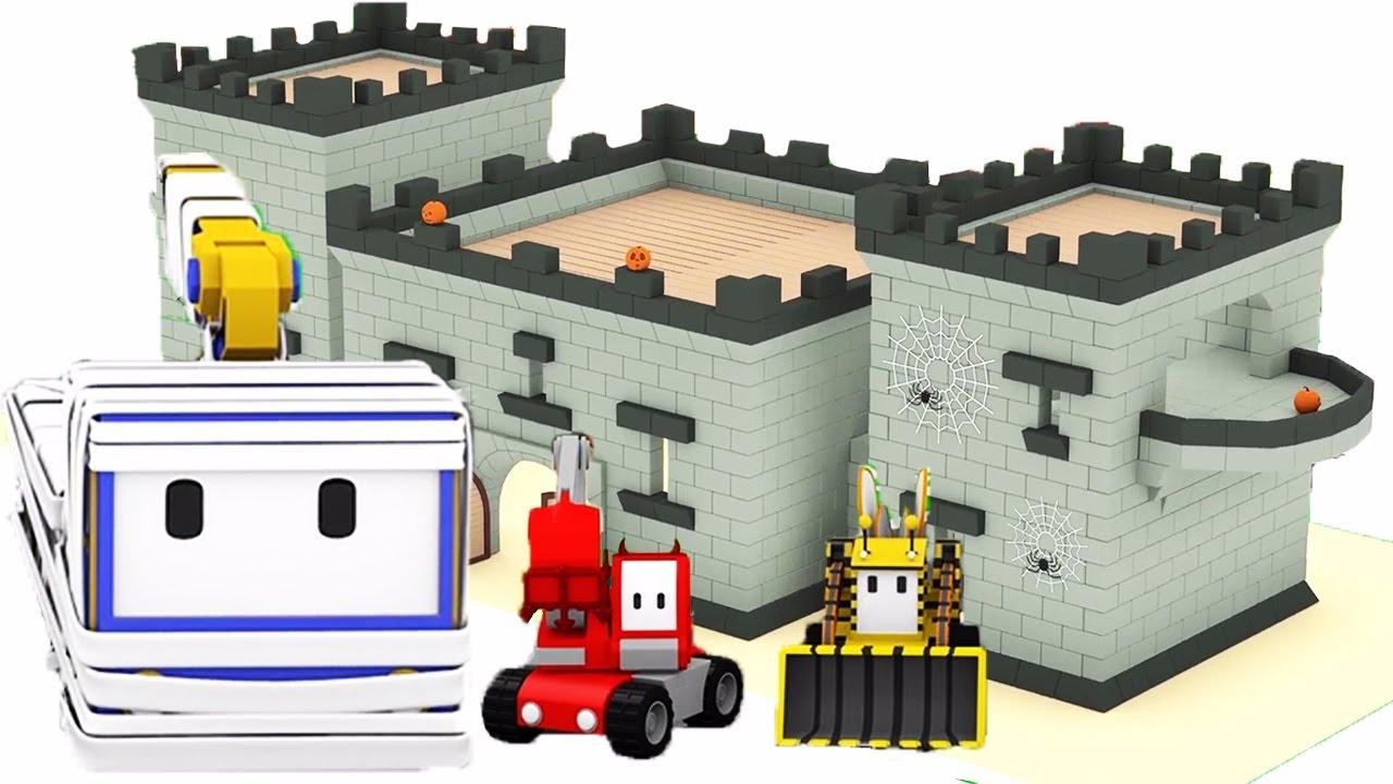 Tiny Trucks The Haunted Castle Learn With Tiny Trucks On Halloween Youtube