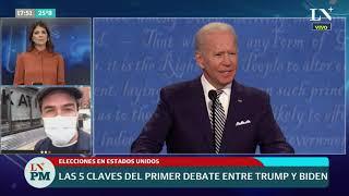 Elecciones en Estados Unidos: las 5 claves del primer debate entre Trump y Biden