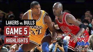 Throwback NBA Finals 1991 Chicago Bulls vs LA Lakers Full Game 5 Highlights