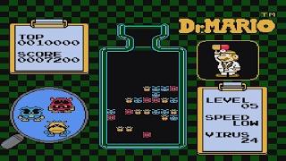 Dr. Mario Virus Level 1-5 Nintendo NES Video Game