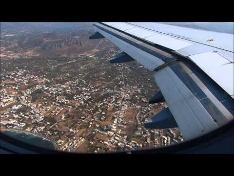 Aegean Airlines A320 landing in Heraklion Nikos Kazantzakis Airport !