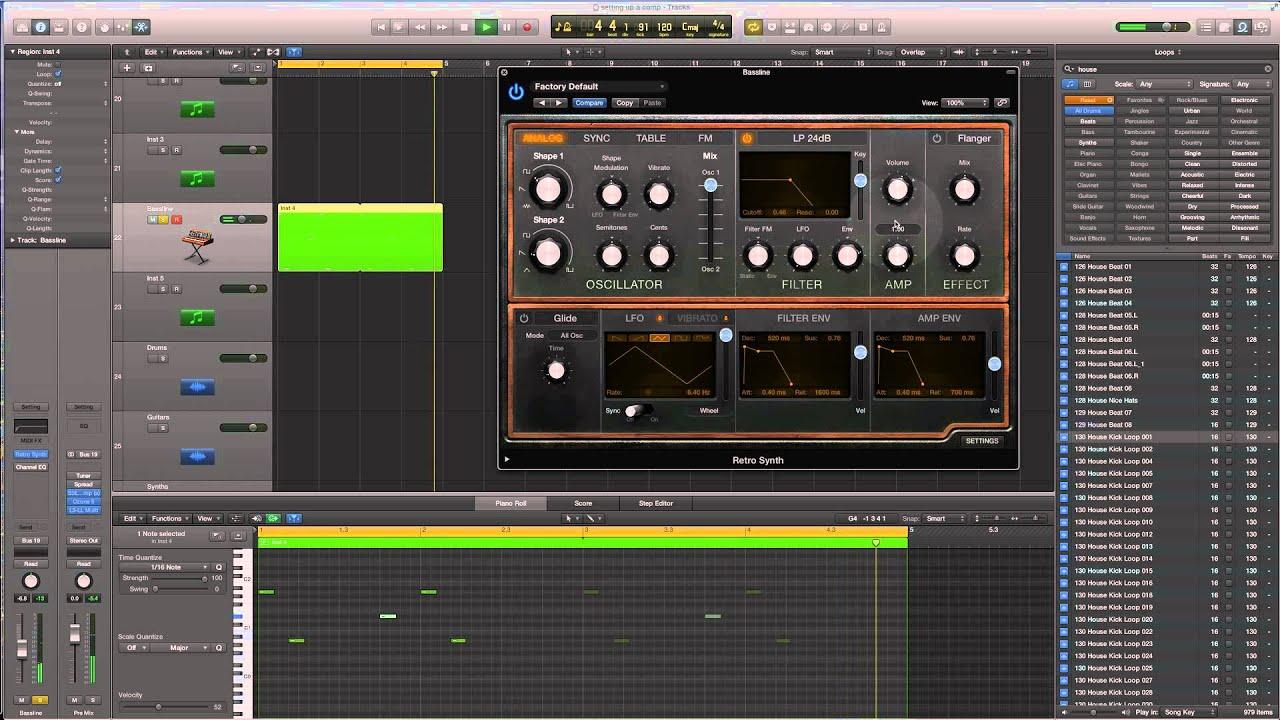 Logic Pro X - Retro Synth - Breach - Jack - House Bass Tutorial