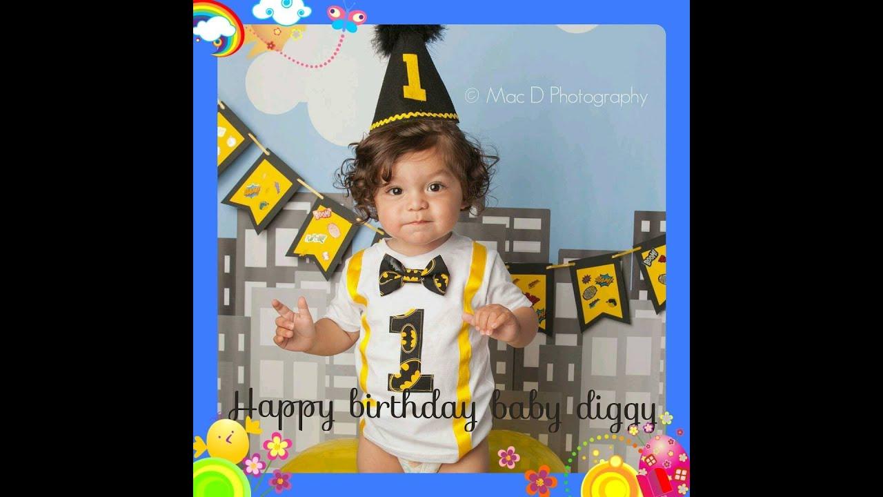 Baby Diggy 1st Birthday