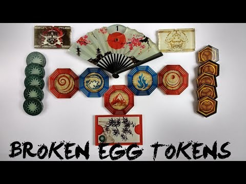Broken Egg Tokens for the Legend of the Five Rings L5R Living Card Game lCG   Imperial Chronicle