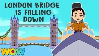 London Bridge Is Falling Down | Famous Nursery Rhyme | Non Stop London Bridge Is Falling Down