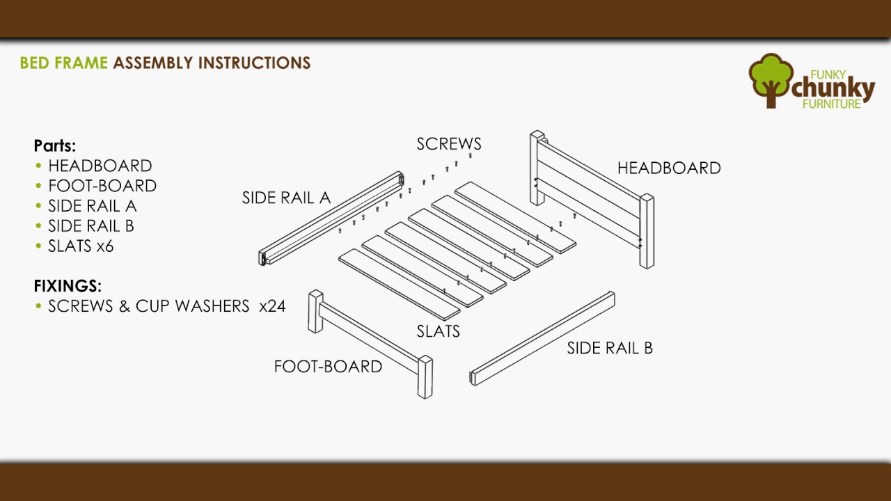 Funky Chunky Furniture - Bed Frame Assembly Instructions - Handmade ...
