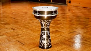 MEINL Percussion - Aluminium Darbuka, Hand Engraved - HE-124