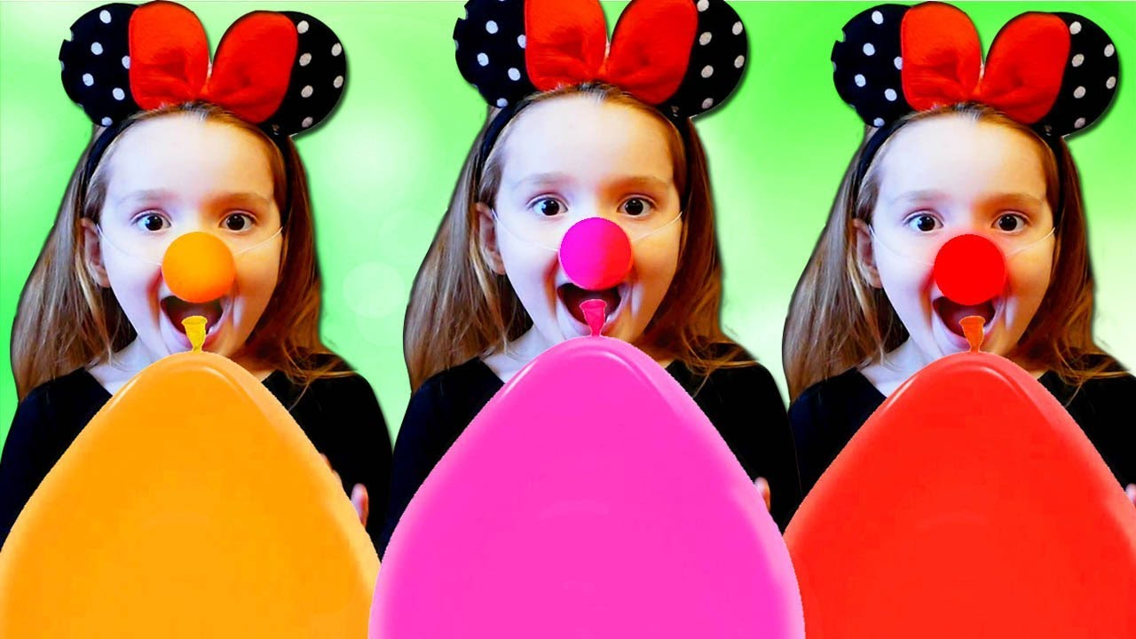 SoNiKa Play and Learn Colors with MAGIC BALLOONS / Fun kid video