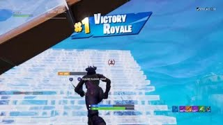 Fortnite First Win using the new Dark Red Knight Skin!!