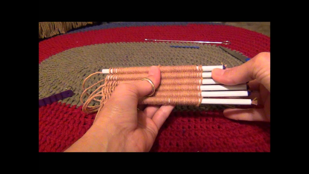 Knifty Knitter Straw Weaver Instructions Youtube