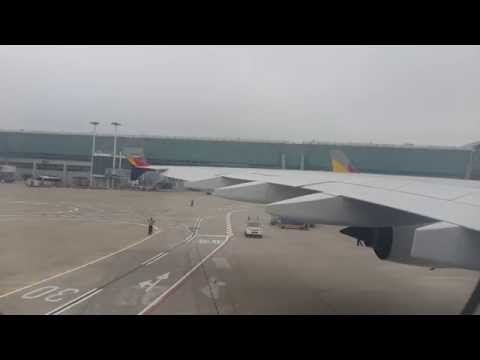 Asiana A380 OZ102 First fright Takeoff ICN-NRT 2014.06.13