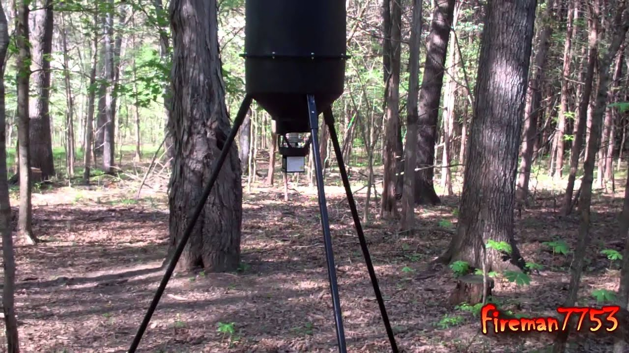 feeder watch demand gallon feed easy deer moultrie youtube