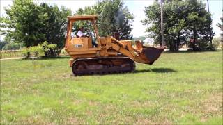 1974 Caterpillar 955L track loader Demo